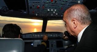 Cumhurbaşkanı Erdoğan kokpitten seslendi: Muhteşem