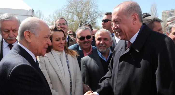 Erdoğan ve Bahçeli Büyük Ankara Mitingi'nde bir araya geldi