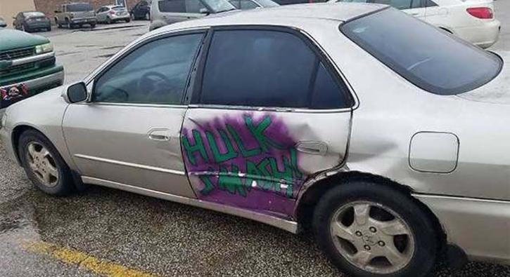 Kaza geçiren otomobilleri tamir etmenin yaratıcı yolları