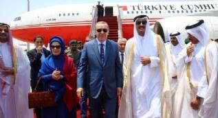Cumhurbaşkanı Erdoğan Katar'da böyle karşılandı