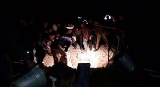 Yerin 14 metre altındaki cesetler çıkarıldı