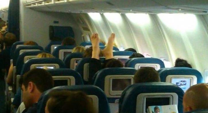 Bu yolcular başka! Uçaktaki tuhaf haller
