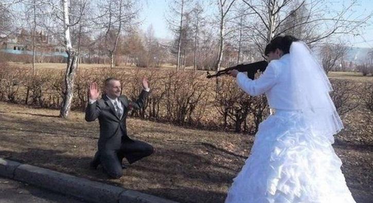 Bu düğünler ancak Rusya'da olur
