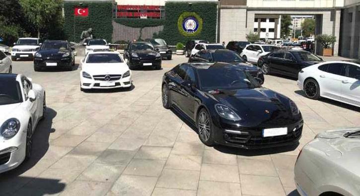 Emniyet'in önü galeriye döndü! Toplam değeri 40 milyon lira