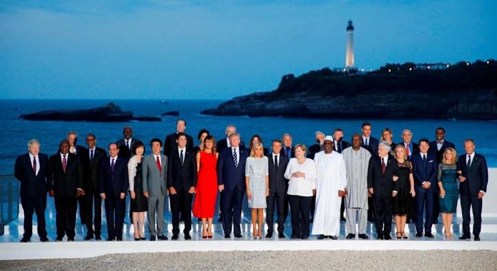 G7 Zirve'sinden ilginç kareler