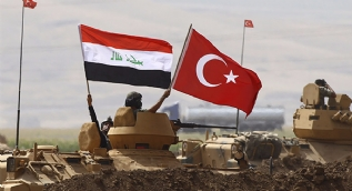 Tatbikat alanında IKBY'e gözdağı, Türk ve Irak bayrakları dalgalandırıldı