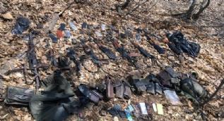 14 teröristin ele öldürüldüğü operasyonda bunlar ele geçirildi