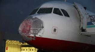 Yolcu uçağı bu hale geldi