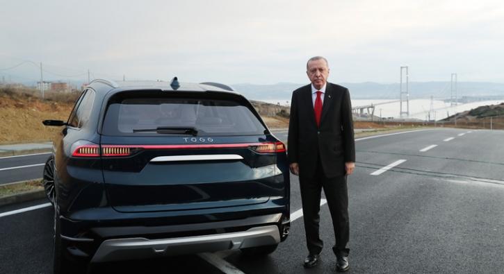 Cumhurbaşkanı Erdoğan, yerli otomobili kullandı! İşte ilk görüntüler