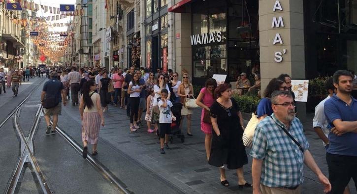 Bugün İstiklal Caddesi...