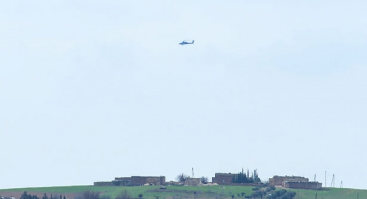 ABD helikopterleri Münbiç'te görüntülendi