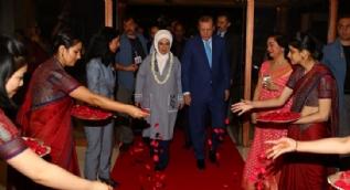 Cumhurbaşkanı Erdoğan, Hindistan'da böyle karşılandı